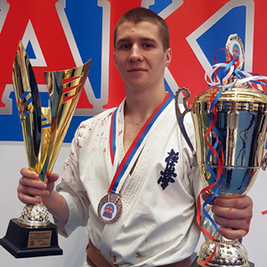Максим Войтов занял второе место на всероссийский соревнованиях по киокусинкай