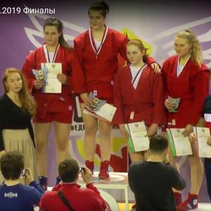Анастасия Черненок завоевала серебряную медаль на первенстве России по самбо